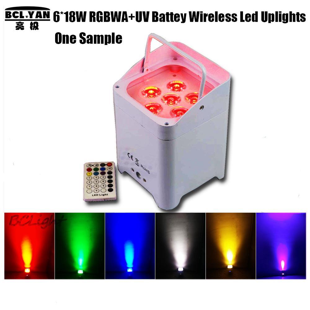 DJ Freedom par led battery powered wireless dmx stage wash up light 6X18w RGBWA UV