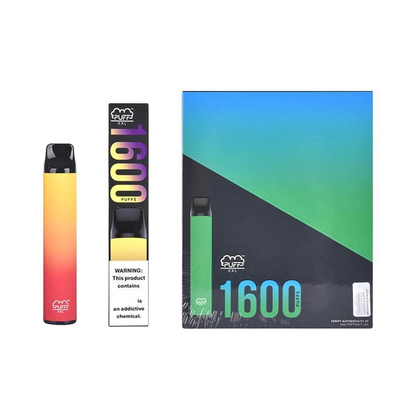 Avustralya UPS Ücretsiz E Sigara Vape Puff Bar XXL 1600+ Puffs Taşınabilir Tek Kullanımlık Kiti 6.5ml Cihaz Yağı Pod Sigara 1000mAh Pil