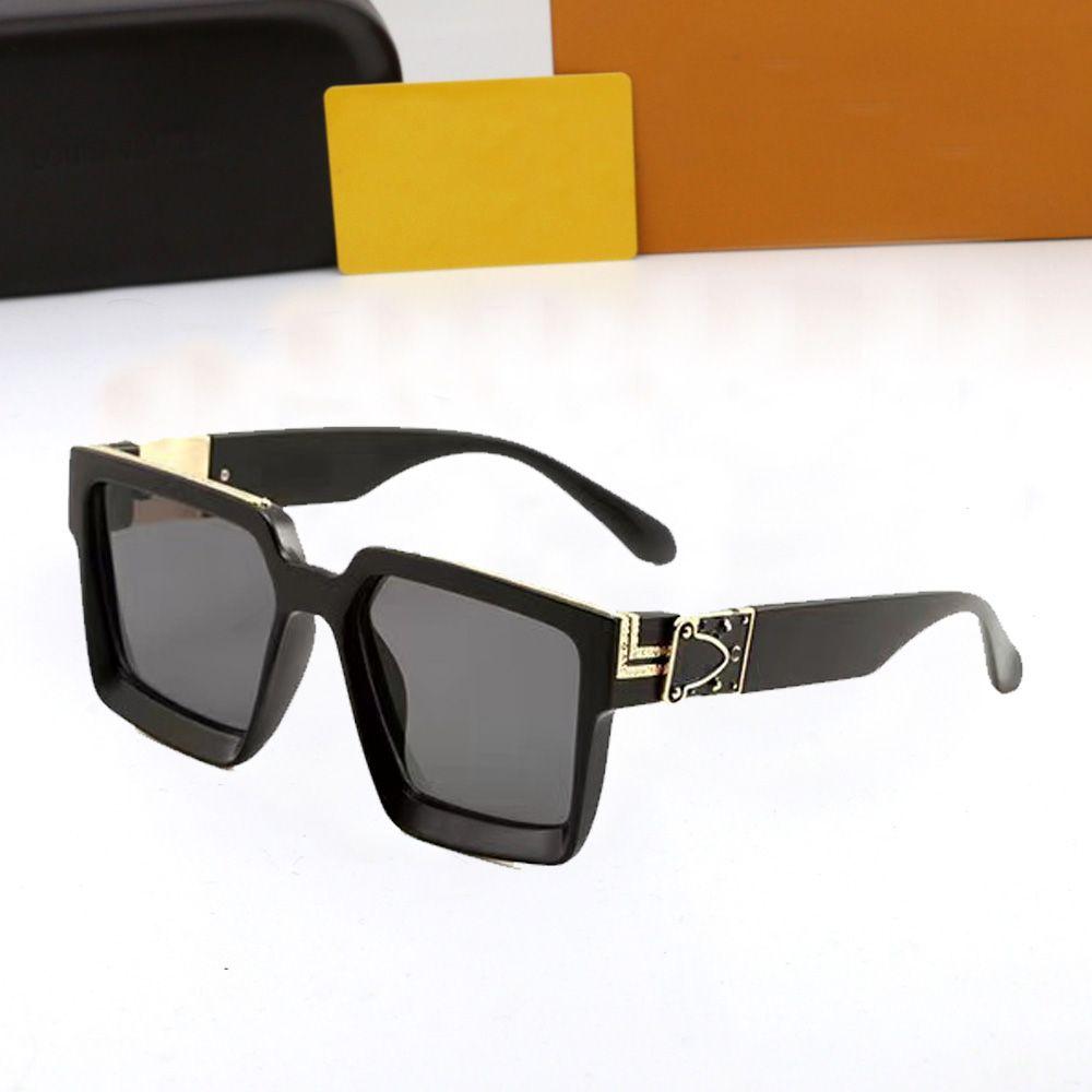Moda clássico designer polarizado 2021 Óculos de sol de luxo para homens mulheres piloto sol óculos uv400 óculos moldura moldura polaroid lente com caixa