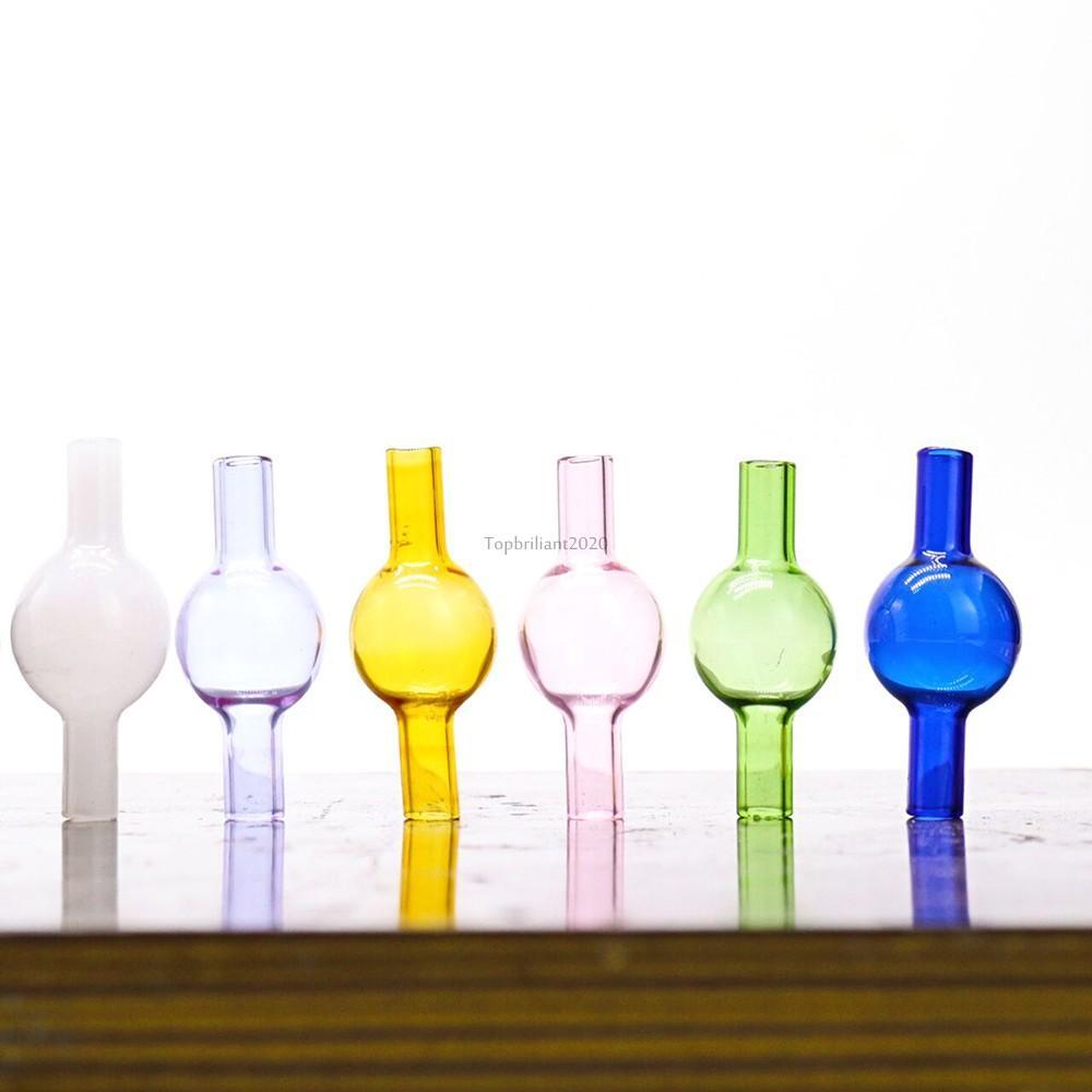 La nuovissima universale colorata vetro bolla carb tappo rotondo a sfera a sfera per tubi per acqua in vetro, XL spesse quarzo termico chiodi termici fy2348