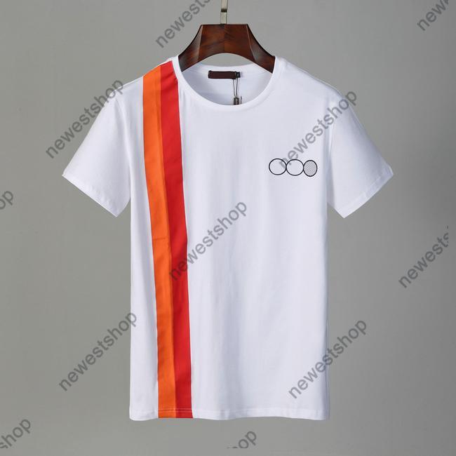 Verano 2021 Diseñadores T Shirts Ropa para hombre Tshirt Carta Impresión Patchwork Color Camiseta Casual Camiseta Mujer Vestido de Lujo Tops Tops