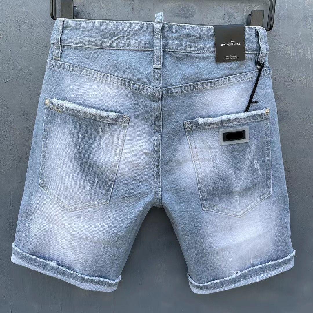 Italienische europäische und amerikanische Mode Herren Casual Jeans Shorts, hochwertiges Waschen, reines Handschleifen, Qualitätsoptimierung DAD0083