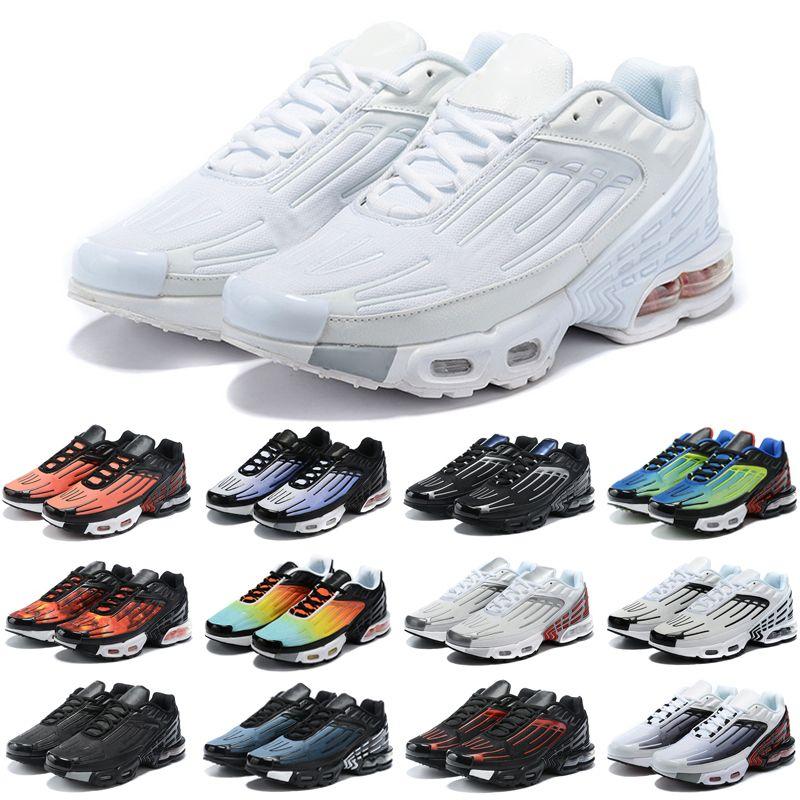 Neueste Casual Schuhe Tn Plus 3 Männer Chaussures III Dreifach weiß Schwarz Irisierende Hyper Blau Oreo Mens Damen Outdoor Trainer Turnschuhe Sport