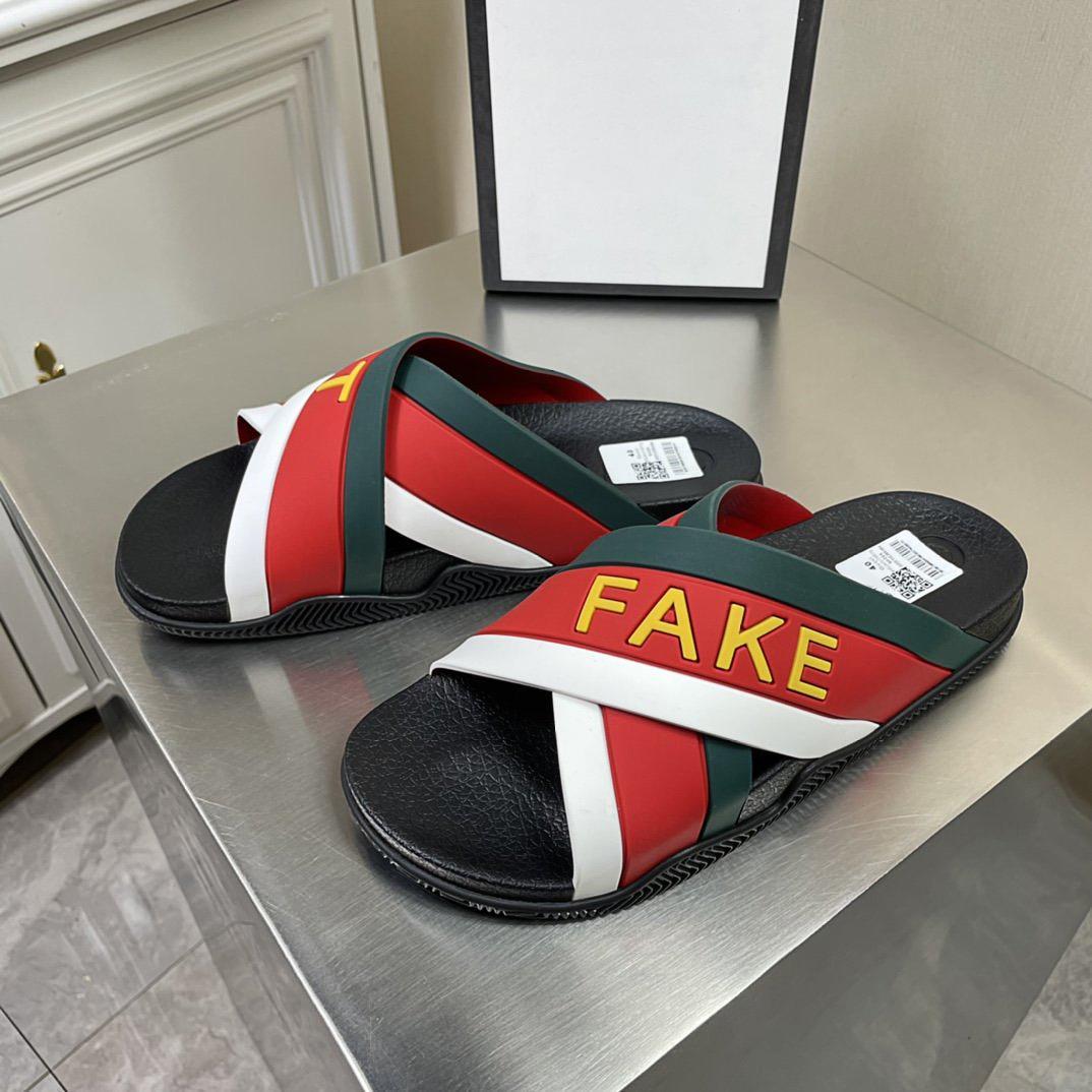 En Kaliteli Lüks Moda Tasarımcısı Kum Terlik Düz Alt Rahat Marka erkek Casual Yaz Geniş Soled Sandalet Kutusu Boyutu38-45