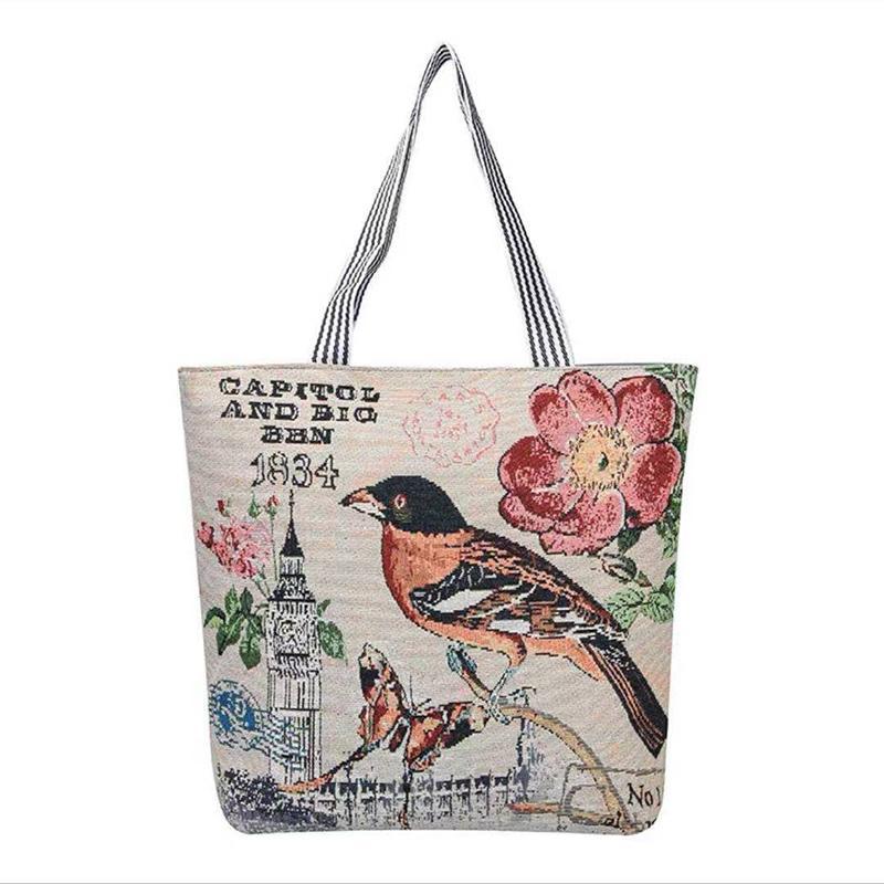 Korean version ins student canvas bag women's literature and art versatile single shoulder bags small fresh linen short distance travel bagss P027