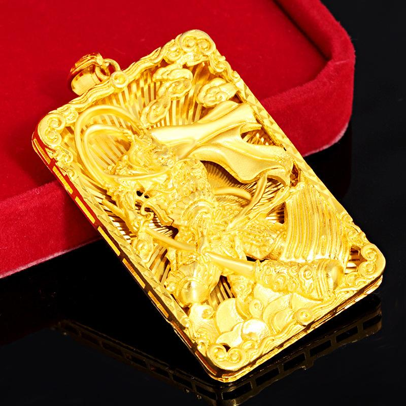 Kupfer-Plattierung Verdickter Gold-Affe-König Herren-Tag Anhänger Vietnam Placer Gold Qi Tian da Sheng Safe Halskette