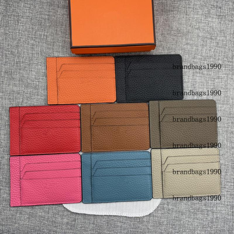 Top quality Soft Card holders For Credit Cards Short Wallets Women Men Unisex fashion Cowskin Genuine leather come with box