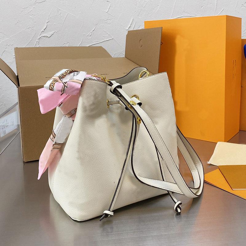 Bucket Bag Women Handbag Wallet Single Shoulder Bags Genuine Leather Fashion Classic L Letter Adjustable Strap Interior Zipper Purse High Quality
