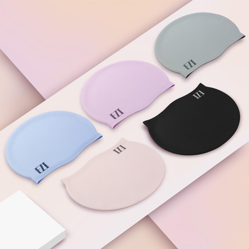 Mützen Juli Sand Hautpflege Haarschutz Silizium Reine Farbe Swinming Cap mit fünf Farbe 18WG02001