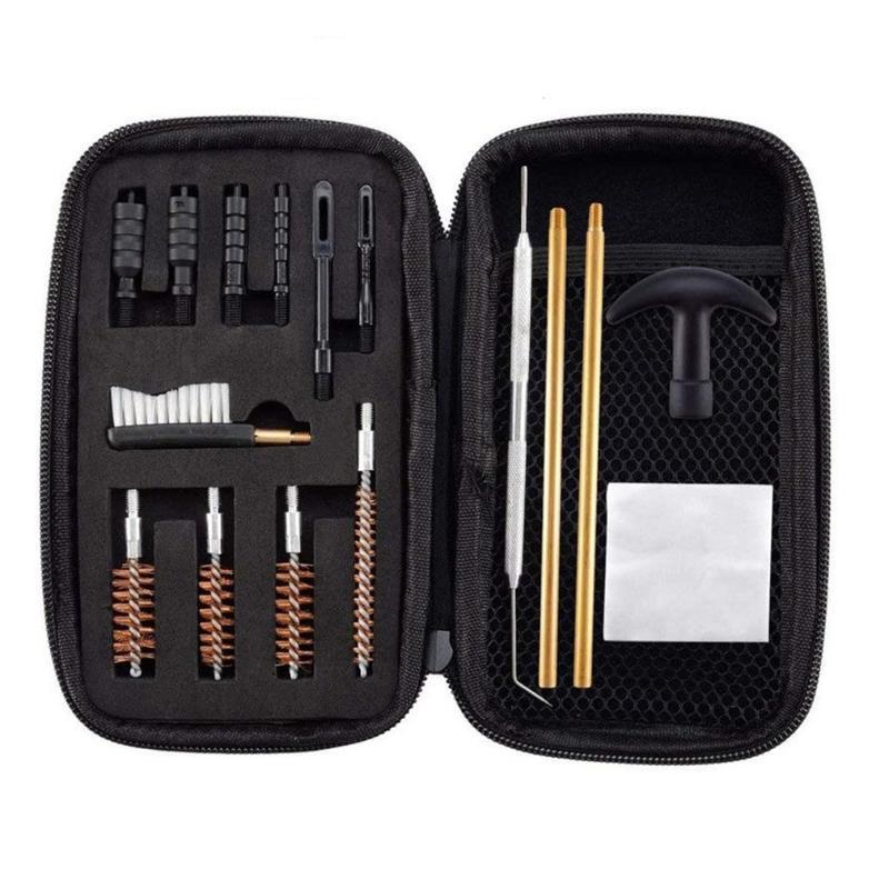 مجموعة أدوات اليد المهنية 16 جهاز كمبيوتر شخصى ل بندقية تنظيف كيت برميل فرشاة جزء عيار مسدس 22، 357، 40، 45 ملم