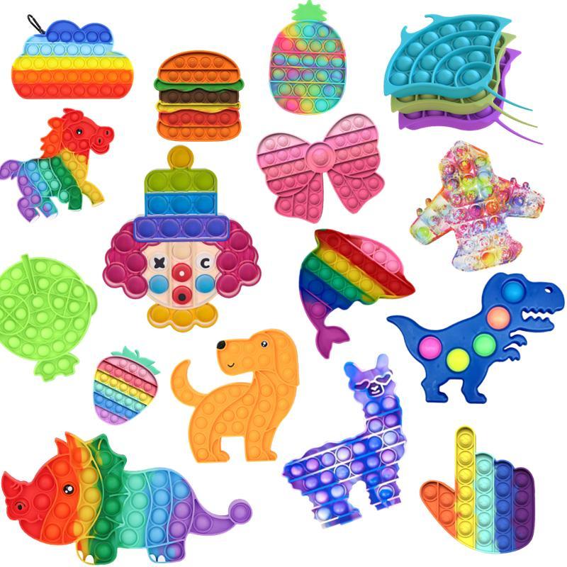 Meerdere bubble Fidget Speelgoed Tie-Dye Fidget Sensory Toy Autism Speciale Release Stress Reliever Kid Volwassen Educatief Speelgoed