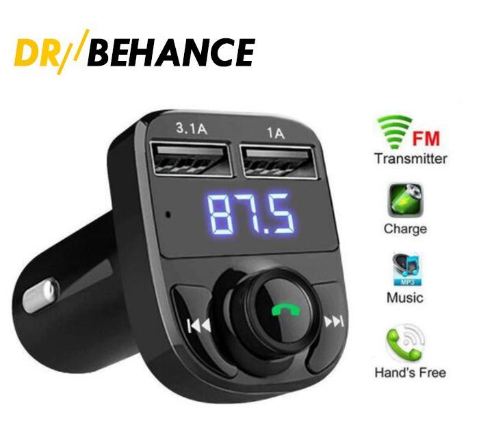 FM X8 Şarj Verici AUX Modülatör Bluetooth Handsfree Kiti Araba Ses MP3 Çalar ile 3.1A Hızlı Şarj Çift USB Şarj