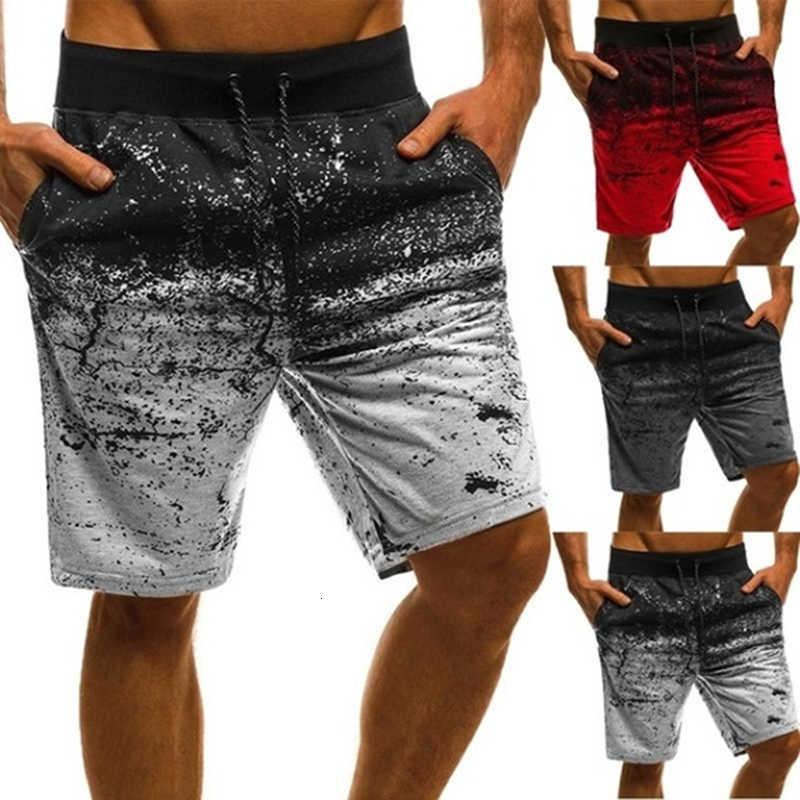 Шорты мужчины повседневная мода напечатанные пробежки короткие пробежки брюки летний грузовик хип-хоп тонкий тренировки плюс размер