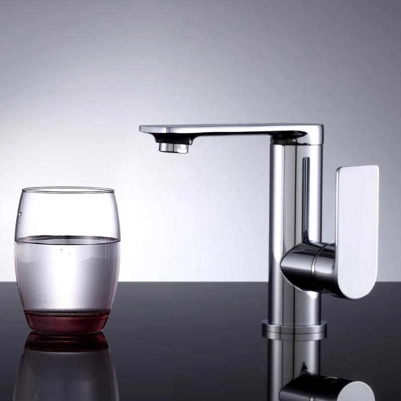 Bathroom vanity vessel faucet wash Basin Mixer Hot&Cold Water Sink Tap for Washroom and Accessories Brass Modern Chrome