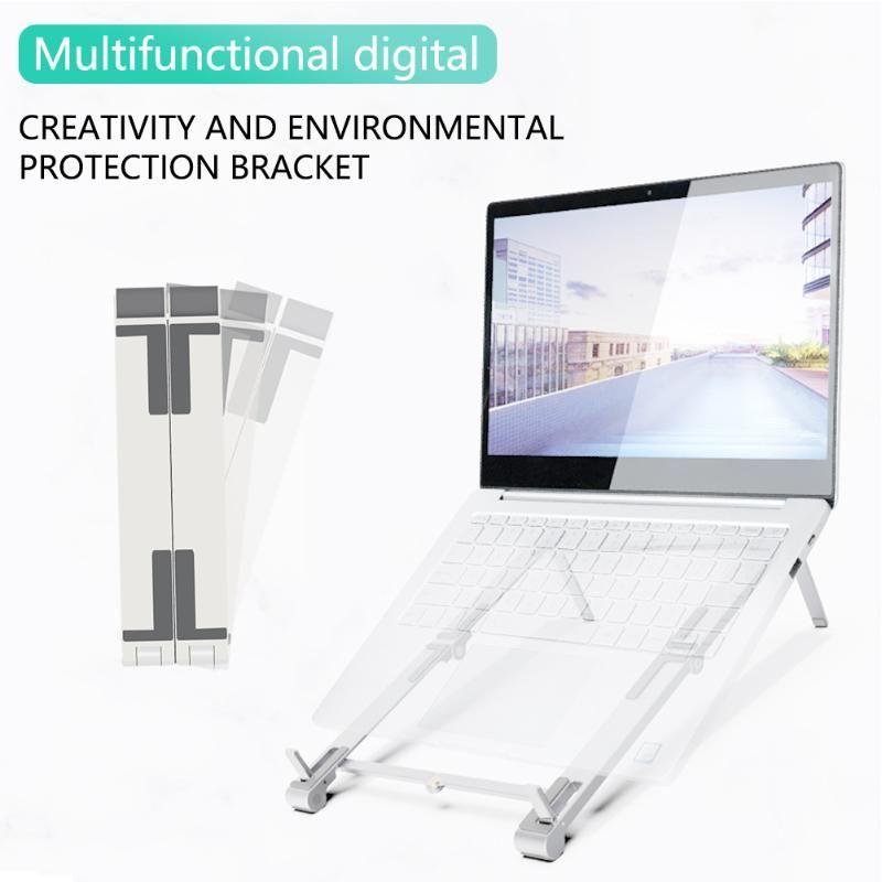 3in1 Universal Plástico Folding Stand Armazenamento Creative Phone Bracket Portátil Suporte para Mobile Tablet Tablet Cell Cell Mounts Titulares