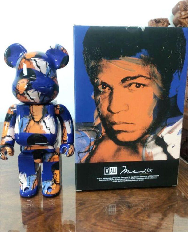 Sıcak 400% 28 cm Bearbrick ABS Ünlü Boxer Moda Ayı Chiaki Rakamlar Oyuncak Koleksiyonerler Için @ Rbrick Sanat Çalışma Modeli Dekorasyon Oyuncaklar Hediye