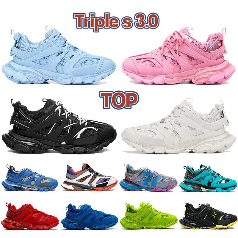 أعلى جودة الثلاثي s 3.0 الرجال عارضة أحذية الجليد الأزرق أسود أبيض رمادي الوردي بورجوندي مدرب الجير البحرية منصة المرأة أحذية رياضية رجل المدربين