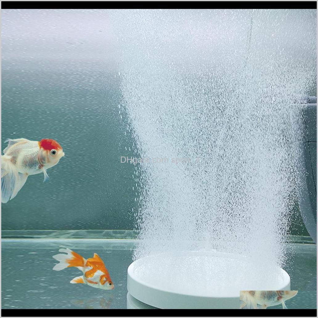 Pumps Accessories Aquariums Pet Supplies Home & Garden Drop Delivery 2021 Air Stone Aquarium Round Plate Premium Nanoscale Fish Tank Oxygen P