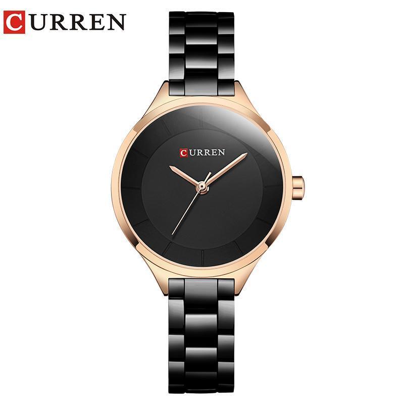 Relogio Masculino Femmes Regardez le poignet en acier inoxydable Quartz Design créatif Dames Horloge Femme Montre Montre Montre-Bracelet