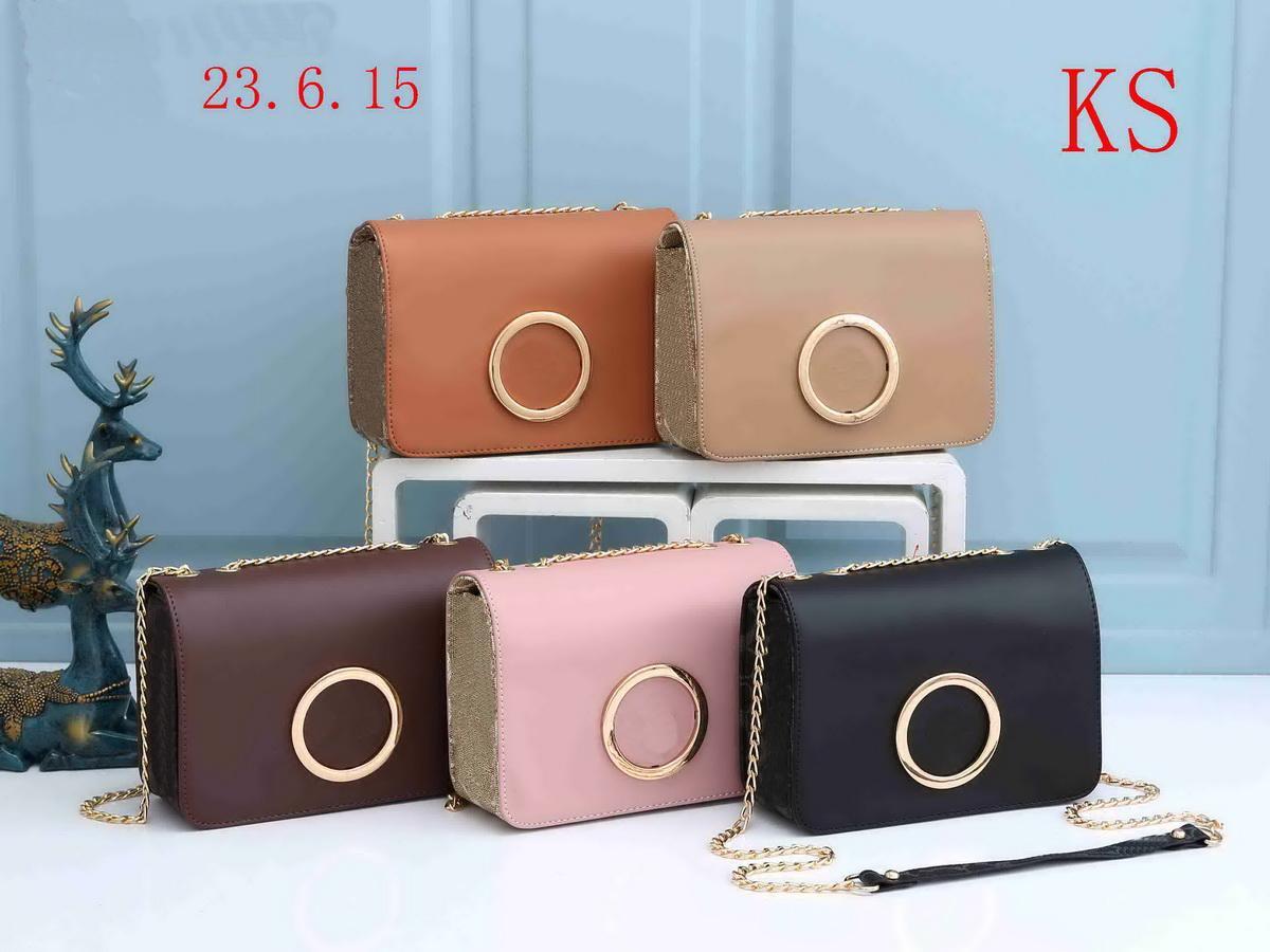 2021 Sälj Kvinnor Rosa Walleta Handväska Messenger Bag Fashions Väskor Axel Lady Totes Purse Handväskor Crossbody Ryggsäck Plånbok