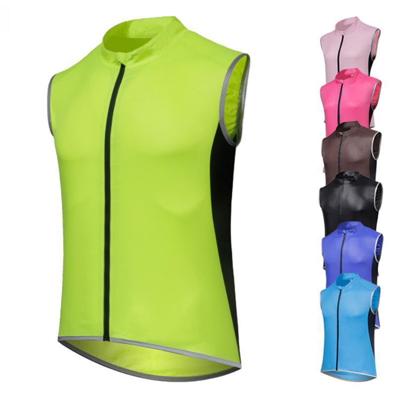 Гоночные наборы 2021 без рукавов велосипедный жилет дождь ветрозащитный велосипед легкий дышащий MTB Ciclismo Bike Jersey