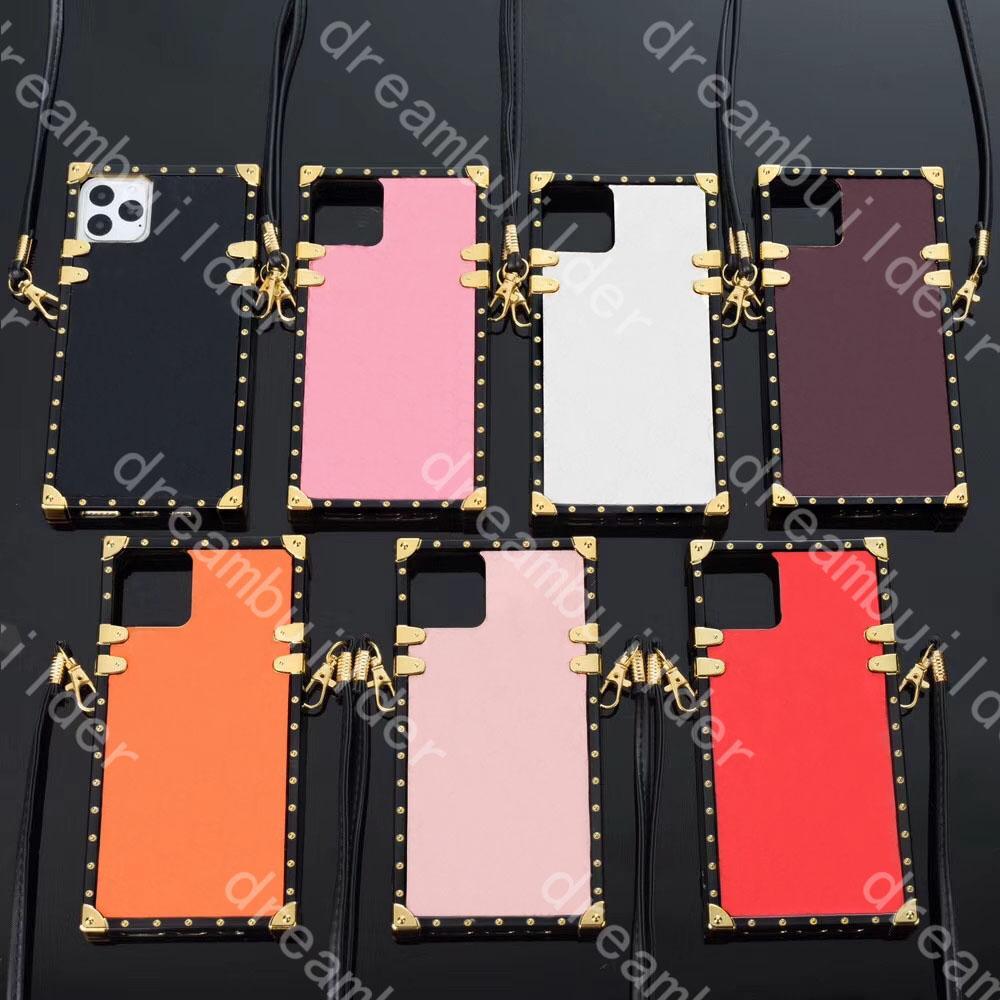 Top Moda Telefono Custodie per iPhone 12 Pro Max 13 13Pro Mini 11 XR XSMAX 7 8P PU Shell in pelle Samsung S10 Plus S20 S20U Nota 8 9 20p