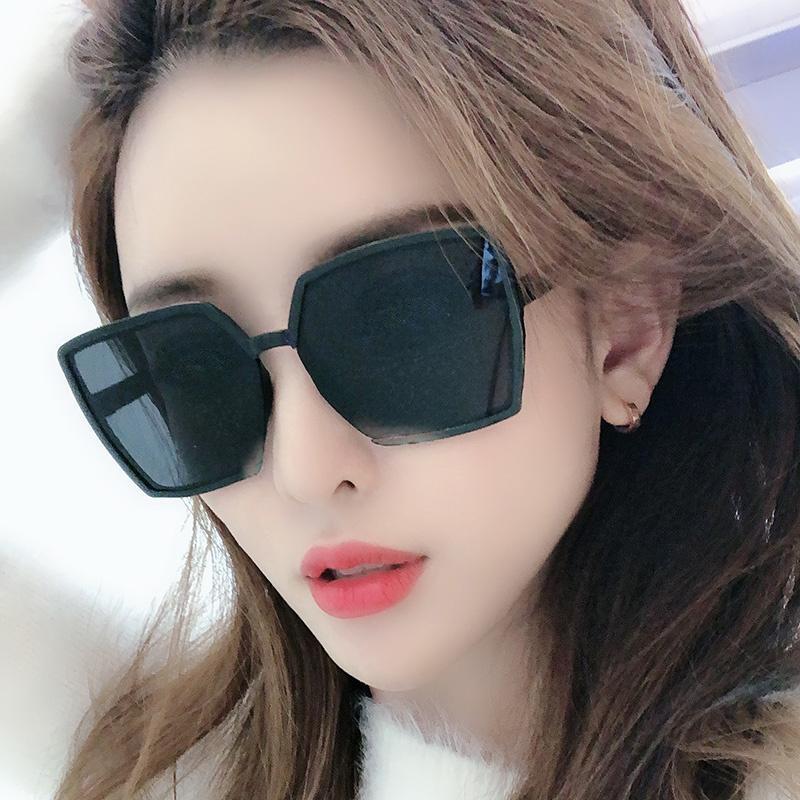 Lunettes de soleil Female Stars Style Verres 2021 Tour Personnalisé Face Face Coréen Célébrité Internet pour hommes coréens