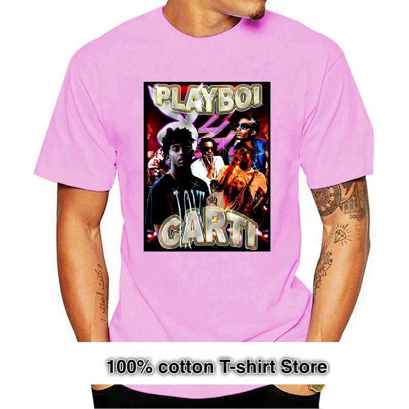 Camisetas para hombre Playboi Carti Hip Hop Rap Casual Cotton Ropa O-cuello de manga corta Tops