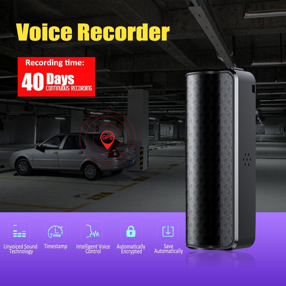Gravador Portátil Magnetic Professional Mini Audio Voz Digital Song USB Ruído RuberQ70 8GB Preto Bateria Recarregável Detafone por DHL Dropship Grátis