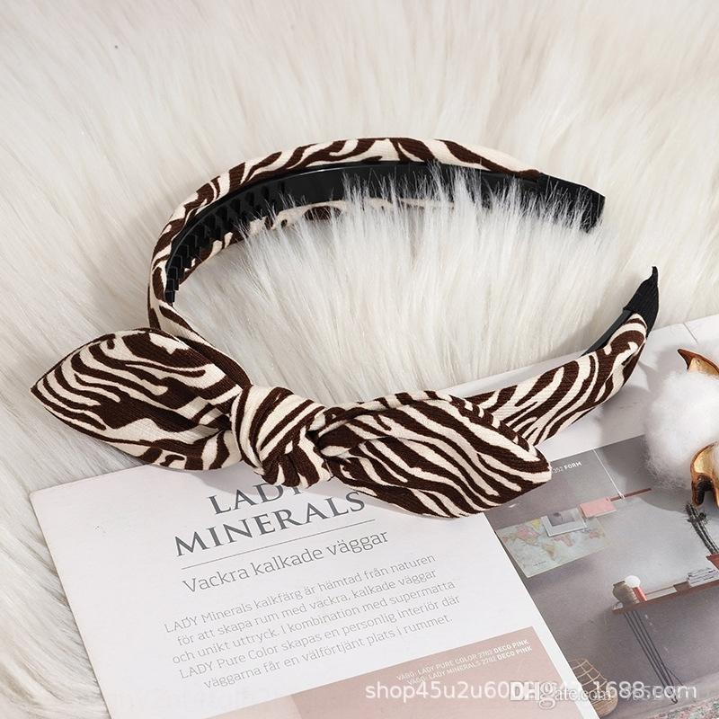JCT Koreanische Kinder Erwachsene Accessoires Mode TU ERH Haar Plaid Kaninchen Köpfe Ohrhaarband Tuch Bowknot Breites Stirnband