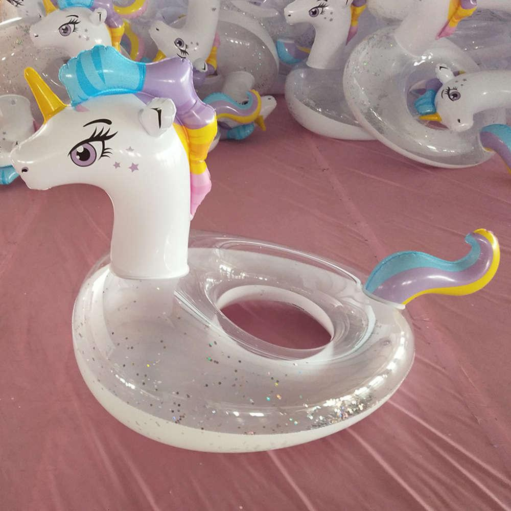 Swimming ring PVC floating row children's Unicorn swimming circle inflatable toys
