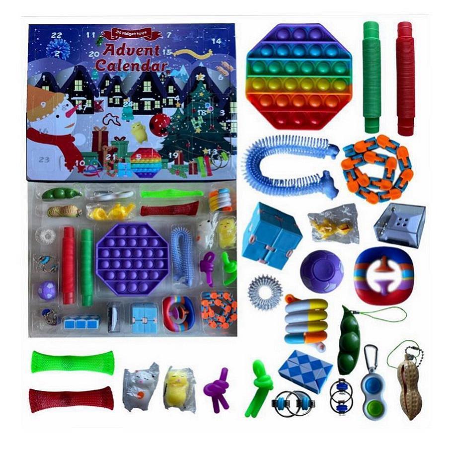 24 дня Didget Toy Toy Advent Календарь 24 шт. / Набор Рождественские Обратный отсчет Слепые Игрушки Ящики Детские Подарки Party Hare HHF9966