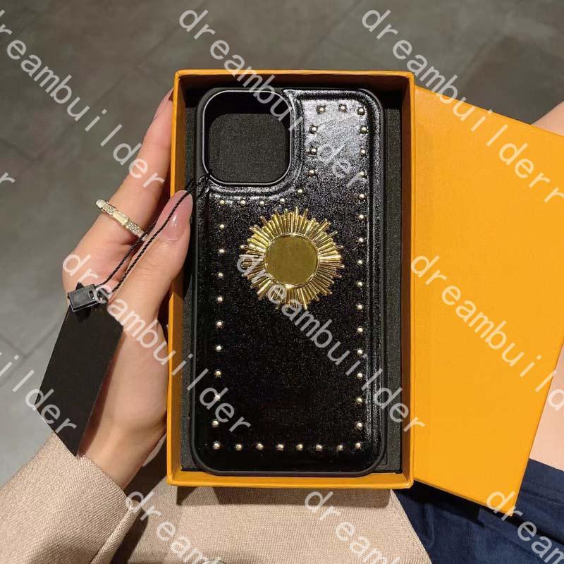 قطعة واحدة الأزياء الحالات الهاتف لآيفون 13 برو ماكس 12 12pro 12pro 12pro 11pro 11pro 11prox X XS XR Xsmax بو الجلود حماية حالة مصمم غطاء مع مربع