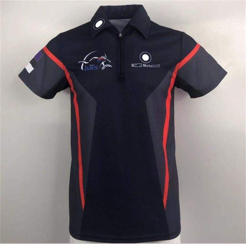 Sommer-Auto-Fan-Hemd Kurzarm-Revers-T-Shirt Outdoor-Sport- und Freizeitrennen-Radfahren-Poloshirt können angepasst werden