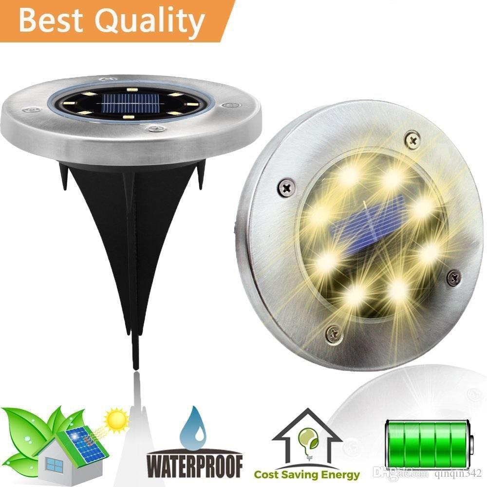 8 LED 태양 램프 가정 마당에 대 한 방수 빛을위한 전원 방수 빛 잔디 도로 지상 갑판 정원 통로