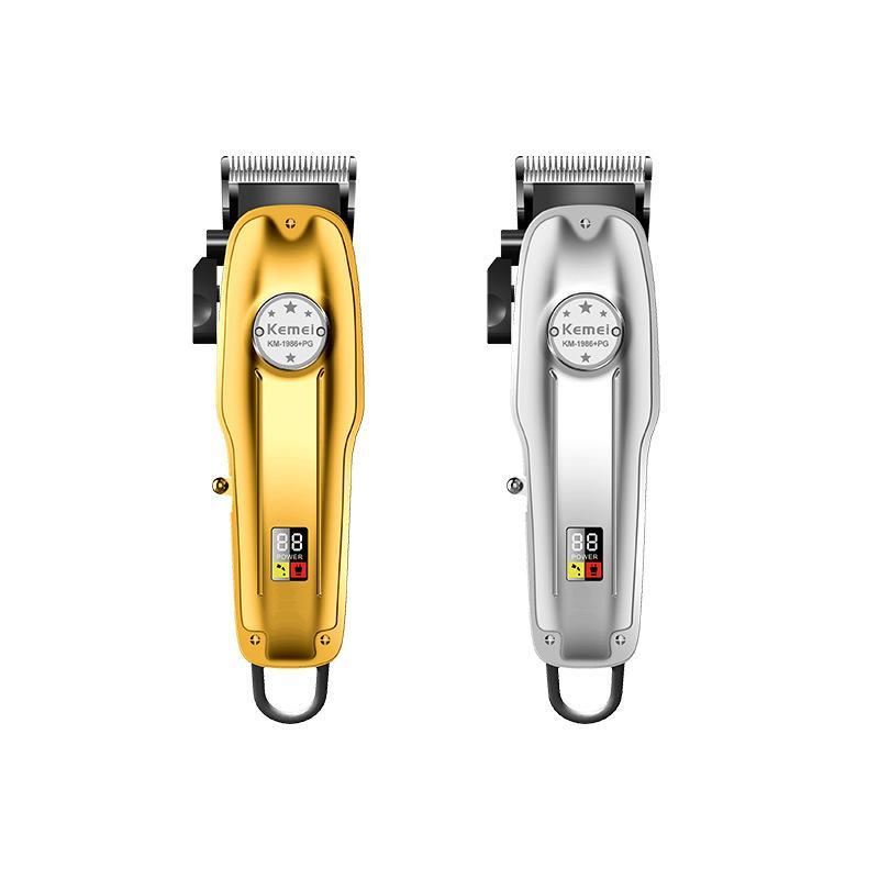 Metal Professional Hair Clipper Barber Trimmer Homens Cordão De Cabelo Elétrico Corte De Cabelo Elétrico Corte de cabelo recarregável