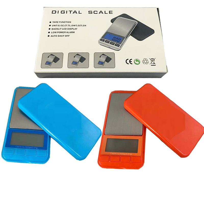 0.1g/0.01g LCD Portable Mini Electronic with Logo Digital Scales Pocket Case Postal For Tobacco Kitchen Food Jewelry Weight Healthy Balance Scale