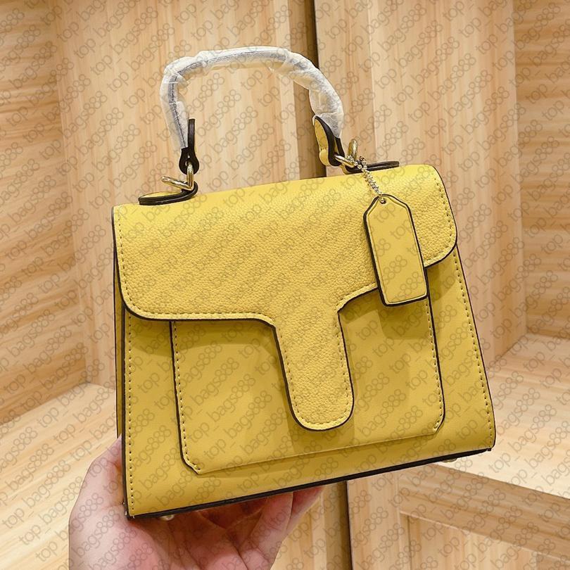 Luxus Designer Marken Echtes Leder Frauen Geldbörsen Umhängetaschen Gelb Top Griff 20 cm Tragbare Orgel Hohe Qualität Crossbody Handtasche
