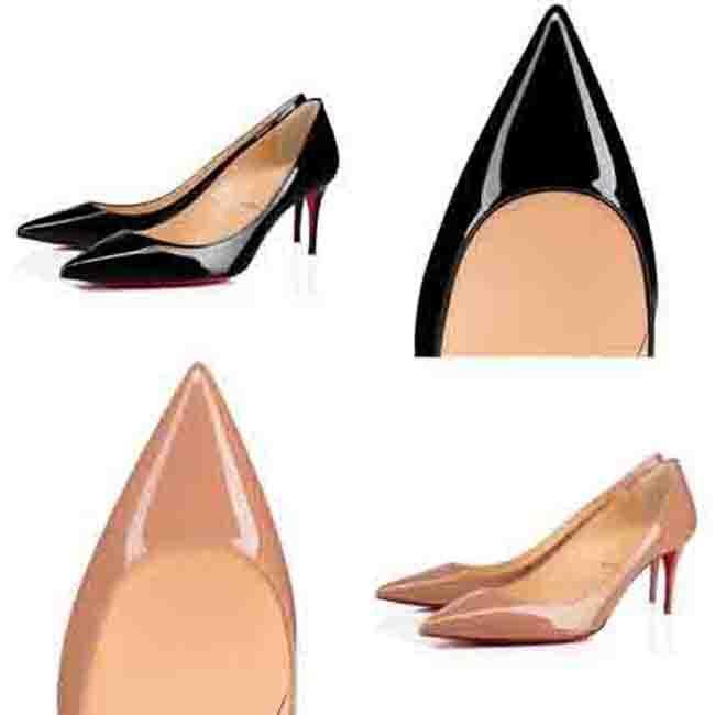 عارضة اسم نمط العلامة التجارية الكعوب النساء الأحمر أسفل مضخات أسود عارية جلد دبوس الكعوب اليدوية حزب نمط منخفض الكعب الأحمر باطن الأحذية