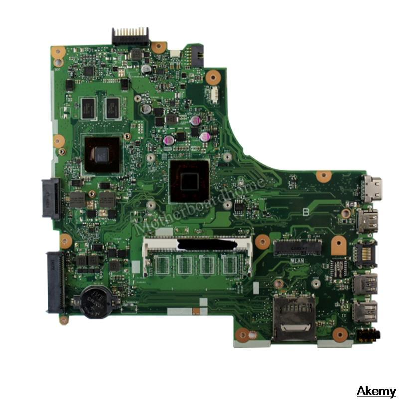 Motherboards X450MJ Laptop Motherboard For Asus X450MD X450M X452M Mainboard 100% Tested With N2840 CPU 2 Cores