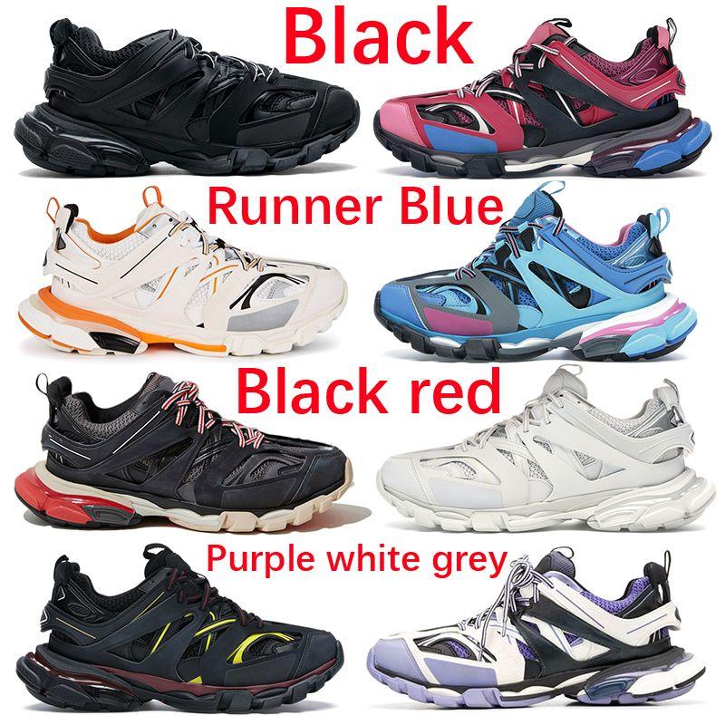 최고 품질 트리플 S 3.0 블랙 화이트 오렌지 캐주얼 신발 러너 블루 옐로우 핑크 그레이 네이비 패션 남자 여성 운동화 Espadrilles
