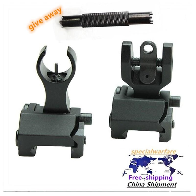 AR15 Front e posteriore Flip up Flip up Iron Sights Back-up Iron Sights Factory Vendite dirette