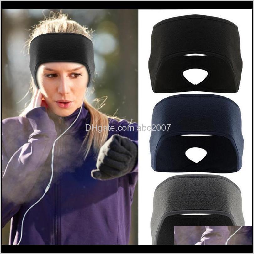 Легисты для волос Открытый флис-хвостный повязка на голову йога бегущий фитнес спортивные теплые подушки WVV0U A4TFD