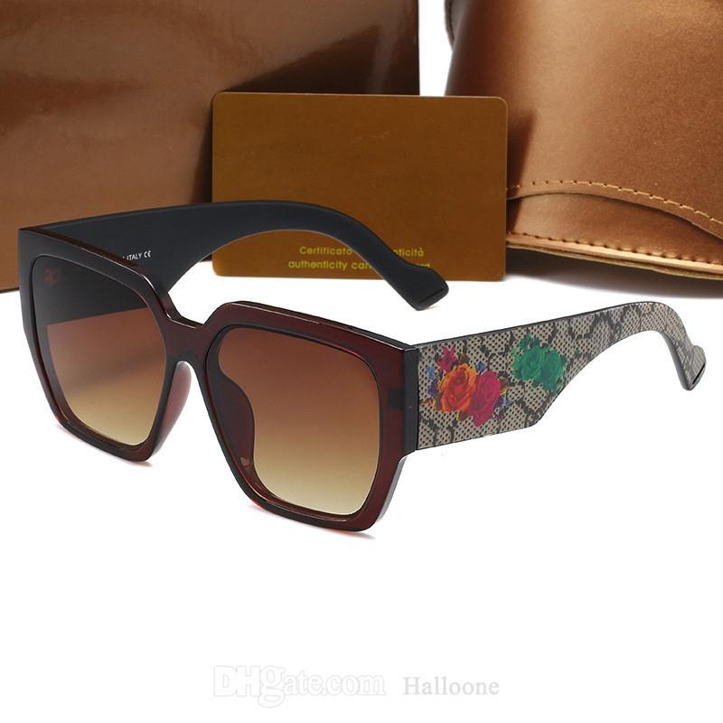 1025 Tasarımcı Güneş Erkek Kadın Gözlük Açık Shades Çiçekler PC Çerçeve Moda Klasik Bayan Güneş Gözlükleri Kadınlar için Aynalar