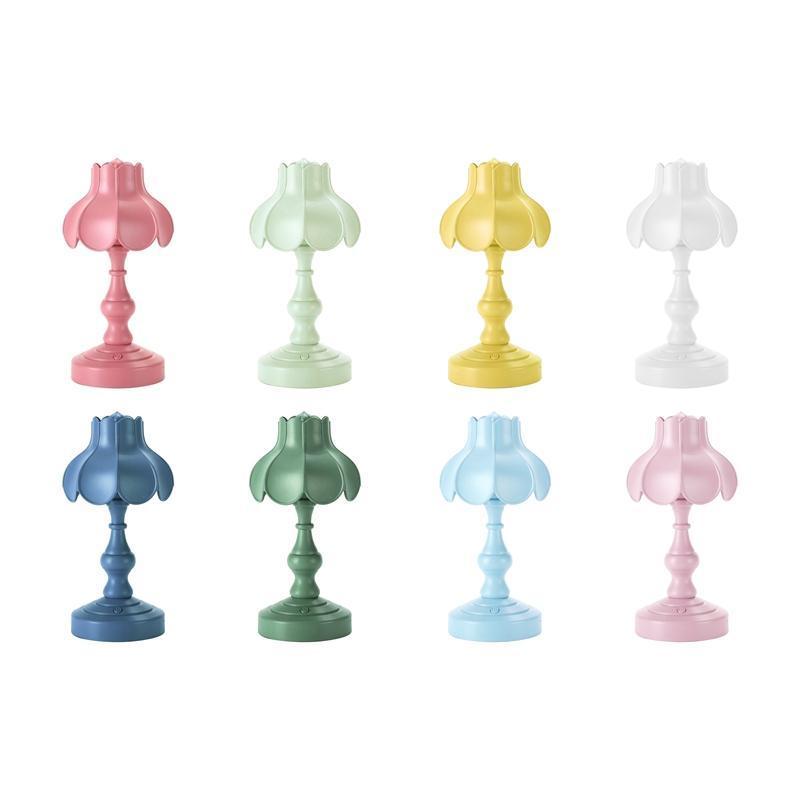 Table Lamps European Lotus Mini LED Night Light For Mall Room Bar Home Reading