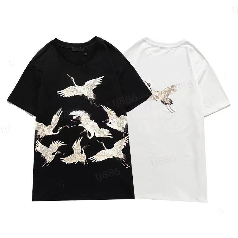 T-shirt dos homens da marca A alta qualidade Multicolor Mulheres Homens Stylist T Shirt Pure Algodão Classic Senior Designer Roupas Top1