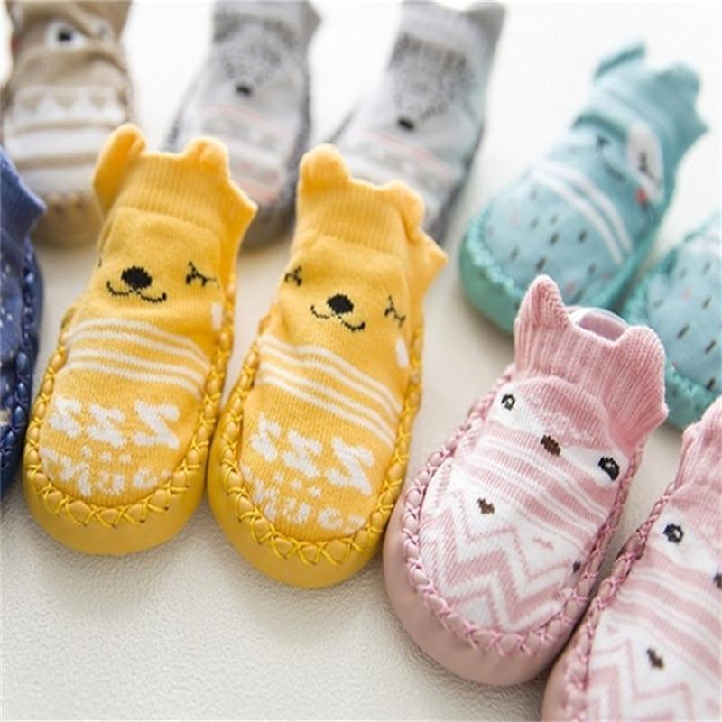 유아 최초의 워커 가죽 아기 신발 코튼 신생아 유아 소년 신발 부드러운 유일한 가을 겨울 아기 신발 아기 소녀 1052 Y2