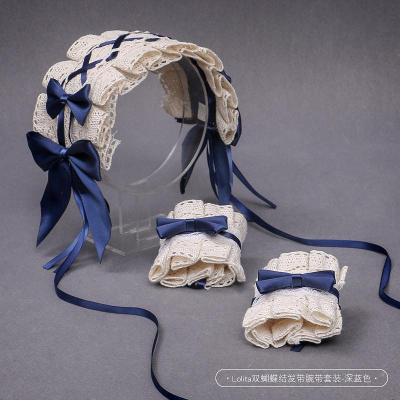 Другое событие партии поставляет милые сладкие лук ленты для волос Hairpin ручной работы волос аксессуары лолита аниме косплей костюм наборы женские головные уборы