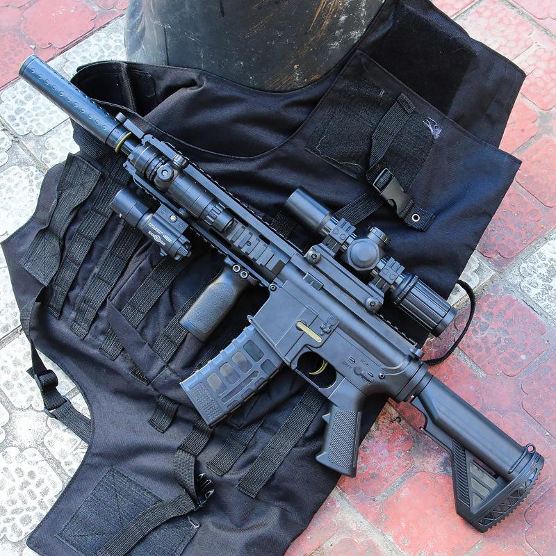 Waffenspielzeug Electric M416 Submine Rifle Sniper Airsoft Kristall Bombe Wasserkugel Pistolenwaffe Modell für Erwachsene Jungen Geburtstagsgeschenke CS Kämpfen