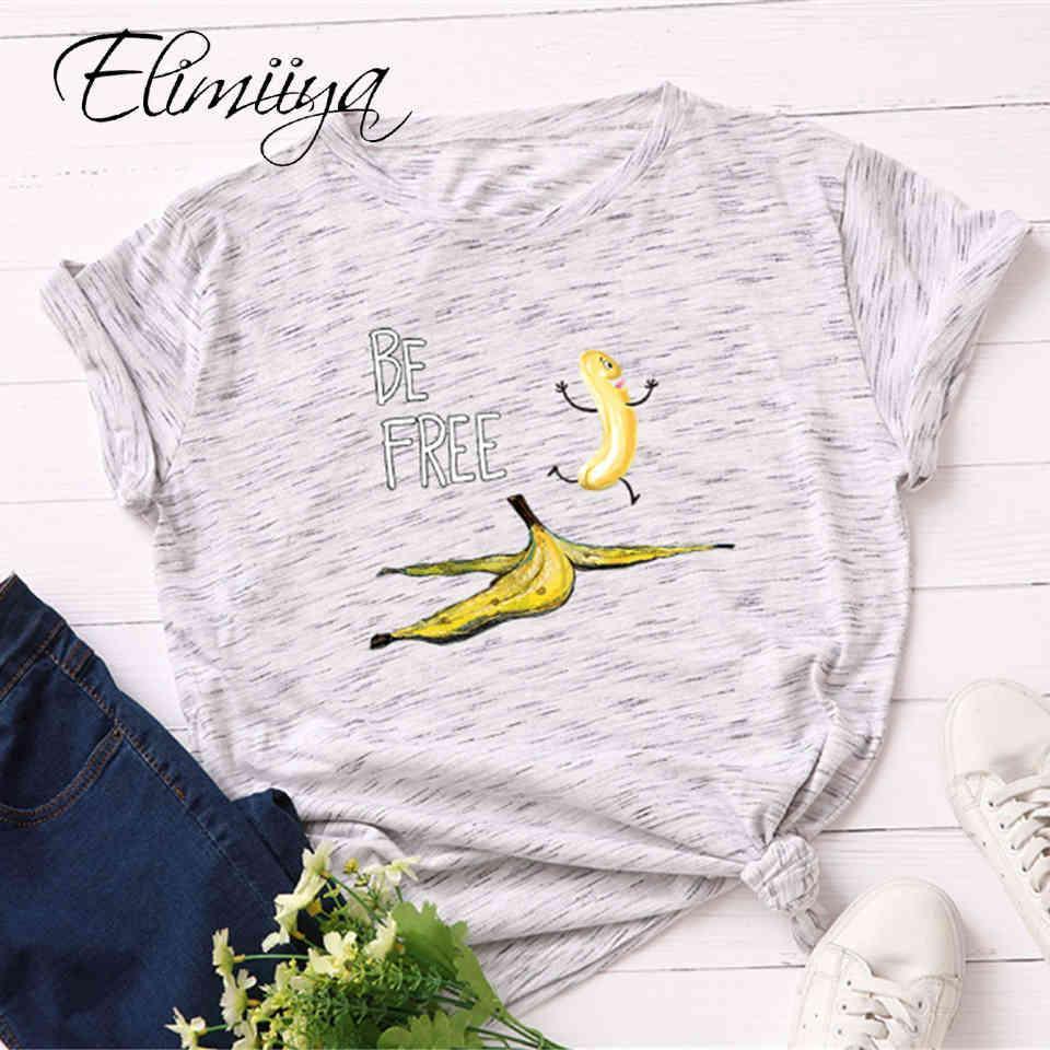 ÉLIIIYA T-shirt Femme Plus Taille S-5XL Modèle Banana Col O-Col À manches courtes Tshirt T-shirts T-shirts Funny T-shirt Tops Femmes 2020 Q0323